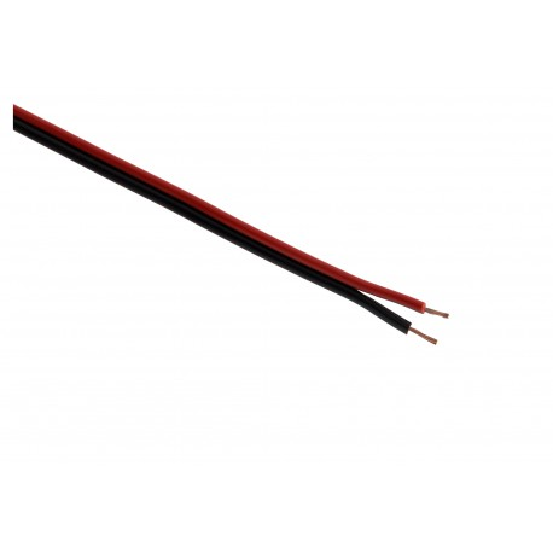 Câble HI-FI 2x 0,75 Rouge/Noir - 500m