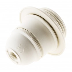 Douille E27 Thermoplastique simple bague Blanc