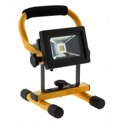 Projecteur LED 10W noir chantier rechargeable IP65