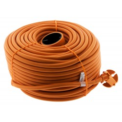 Prolongateur 16A HO5VV-F 2x 1,5 2P sans terre Orange 50m