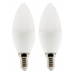 Lot de 2 ampoules LED Flamme 5W E14 400lm 4000K