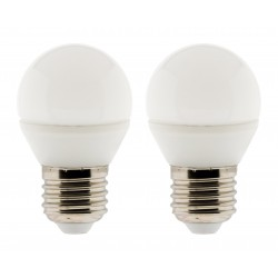 Lot de 2 ampoules LED Sphérique 5W E27 400lm 2700K