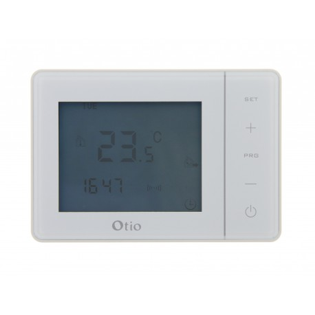 Thermostat programmable blanc